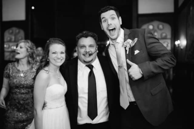 Emily and Tyler hire DJ P-LO-They could not be happier!