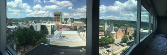 View from the Capital Club in Asheville NC
